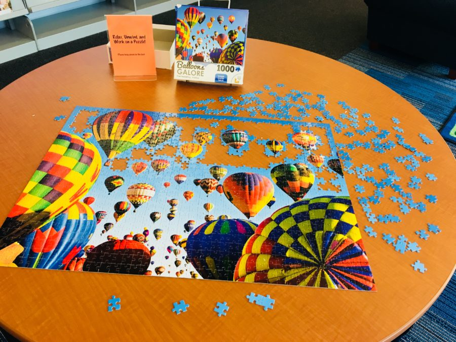 Puzzle Table @ Yorktown Library