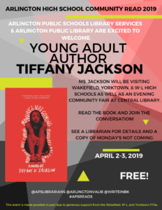 Arlington High School Community Read 2019