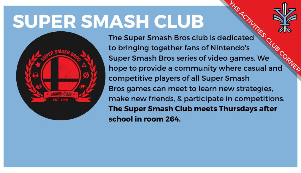 YHS Club Corner: Super Smash Club