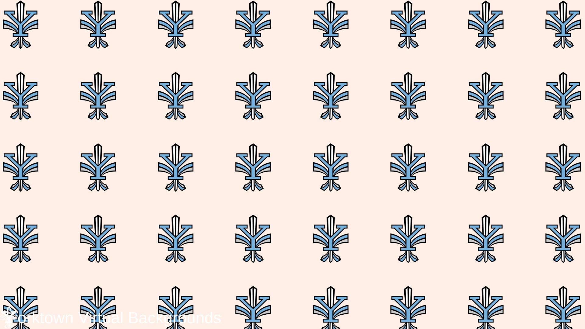 Yorktown Logo Wallpaper for Teams - Cream