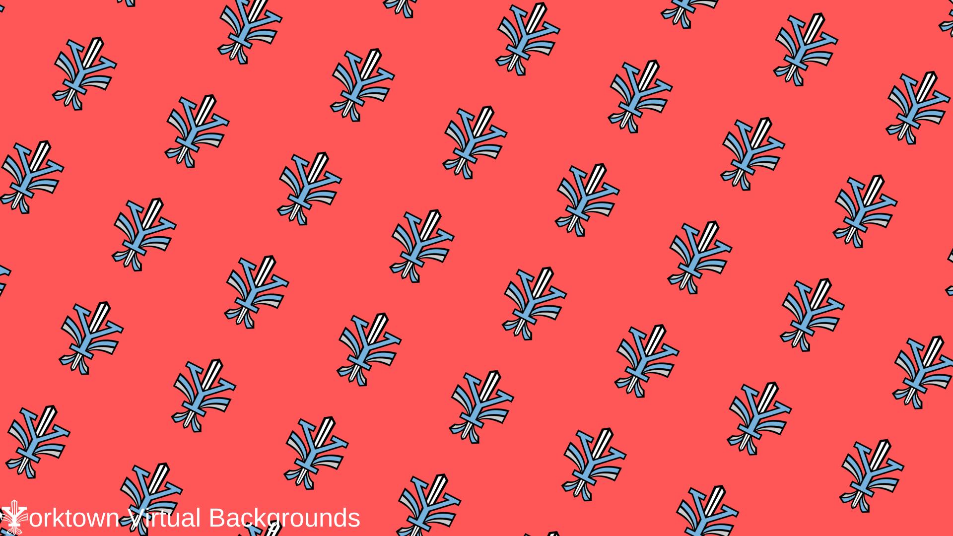 Yorktown Logo Wallpaper for Teams - Red - Diagonal