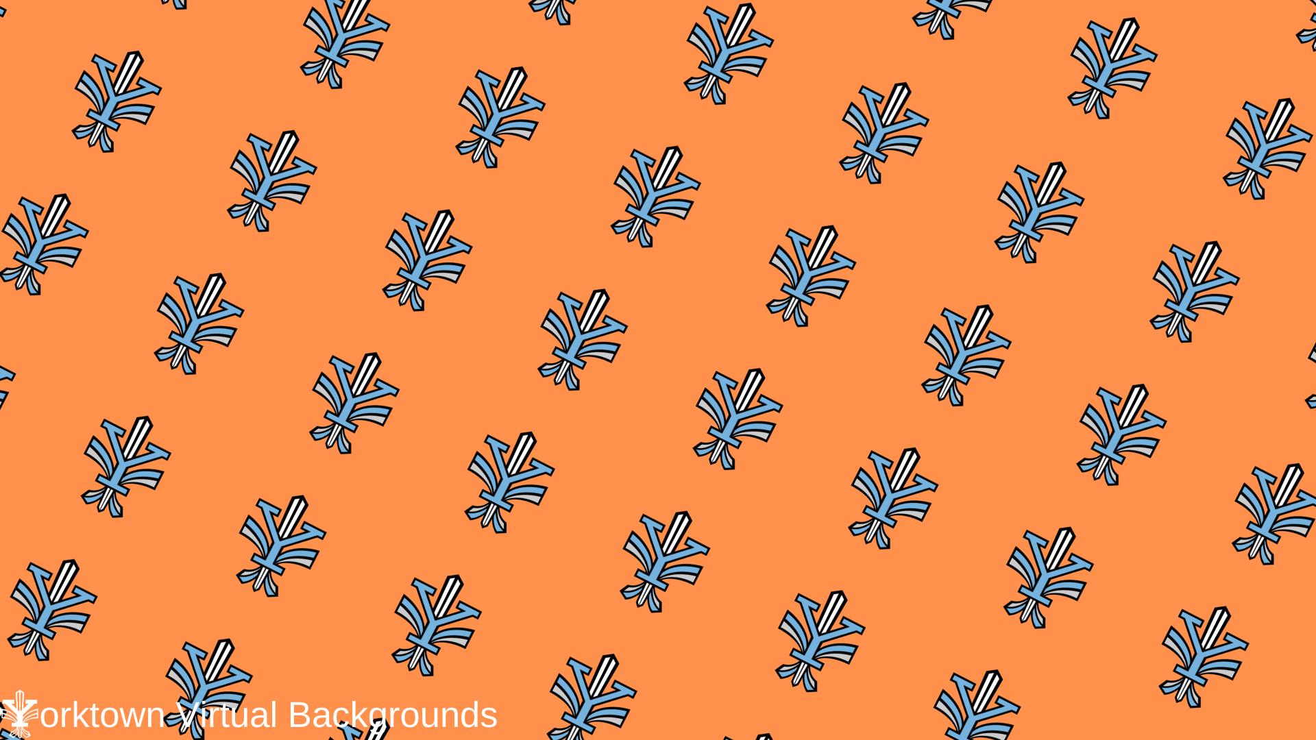 Yorktown Logo Wallpaper for Teams - Orange - Diagonal