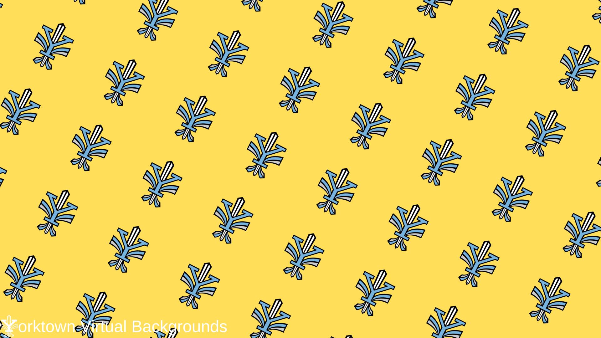 Yorktown Logo Wallpaper for Teams - Yellow - Diagonal