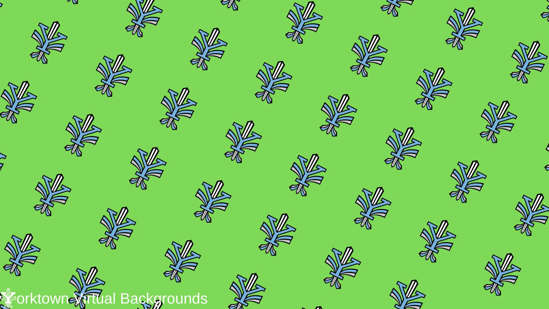 Yorktown Logo Wallpaper for Teams - Green - Diagonal