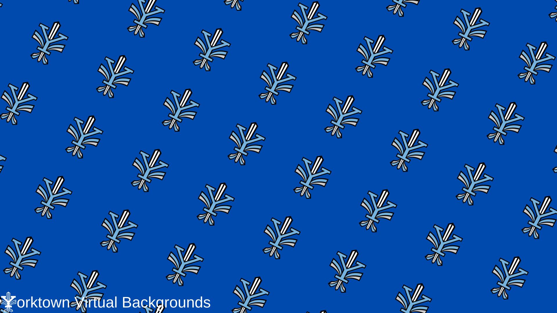 Yorktown Logo Wallpaper for Teams - Royal Blue - Diagonal