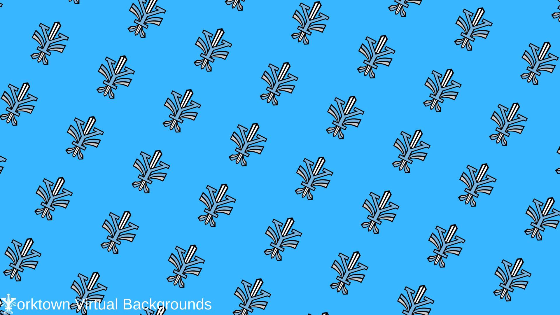 Yorktown Logo Wallpaper for Teams - Patriot Blue - Diagonal