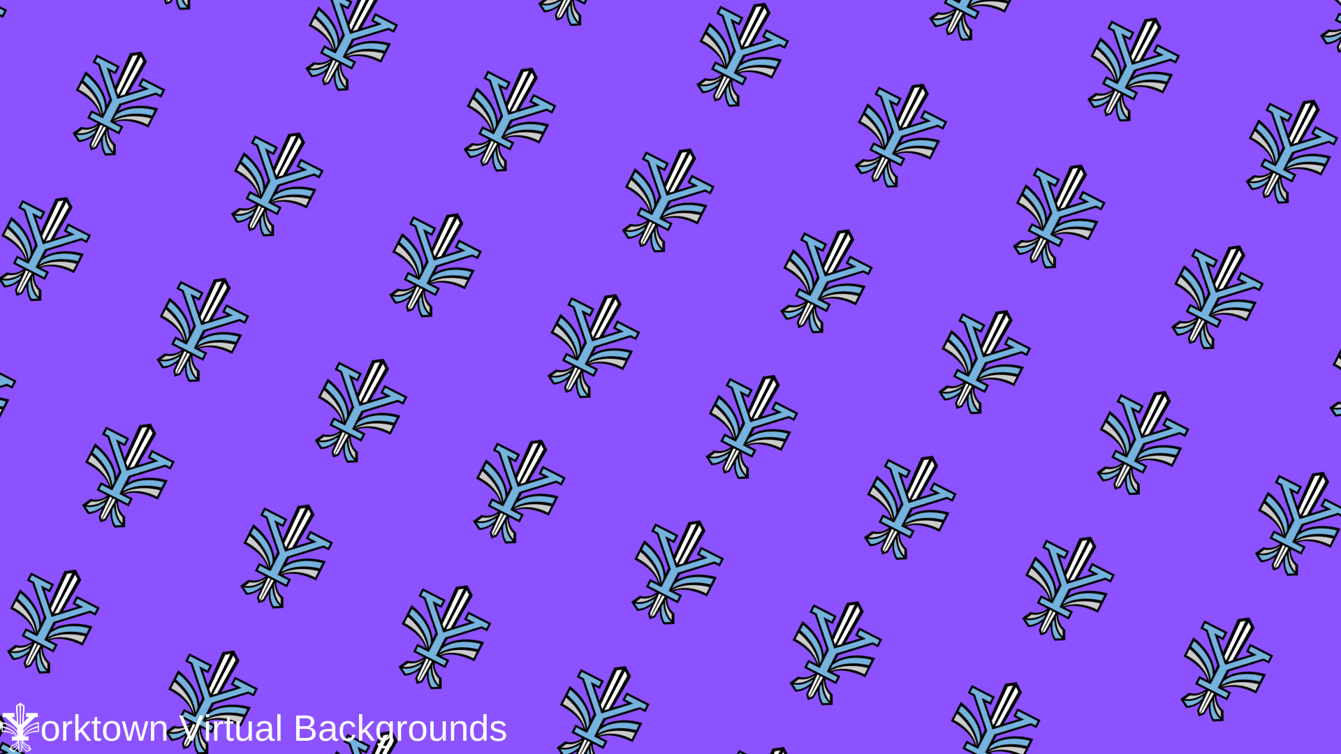 Yorktown Logo Wallpaper for Teams - Purple - Diagonal