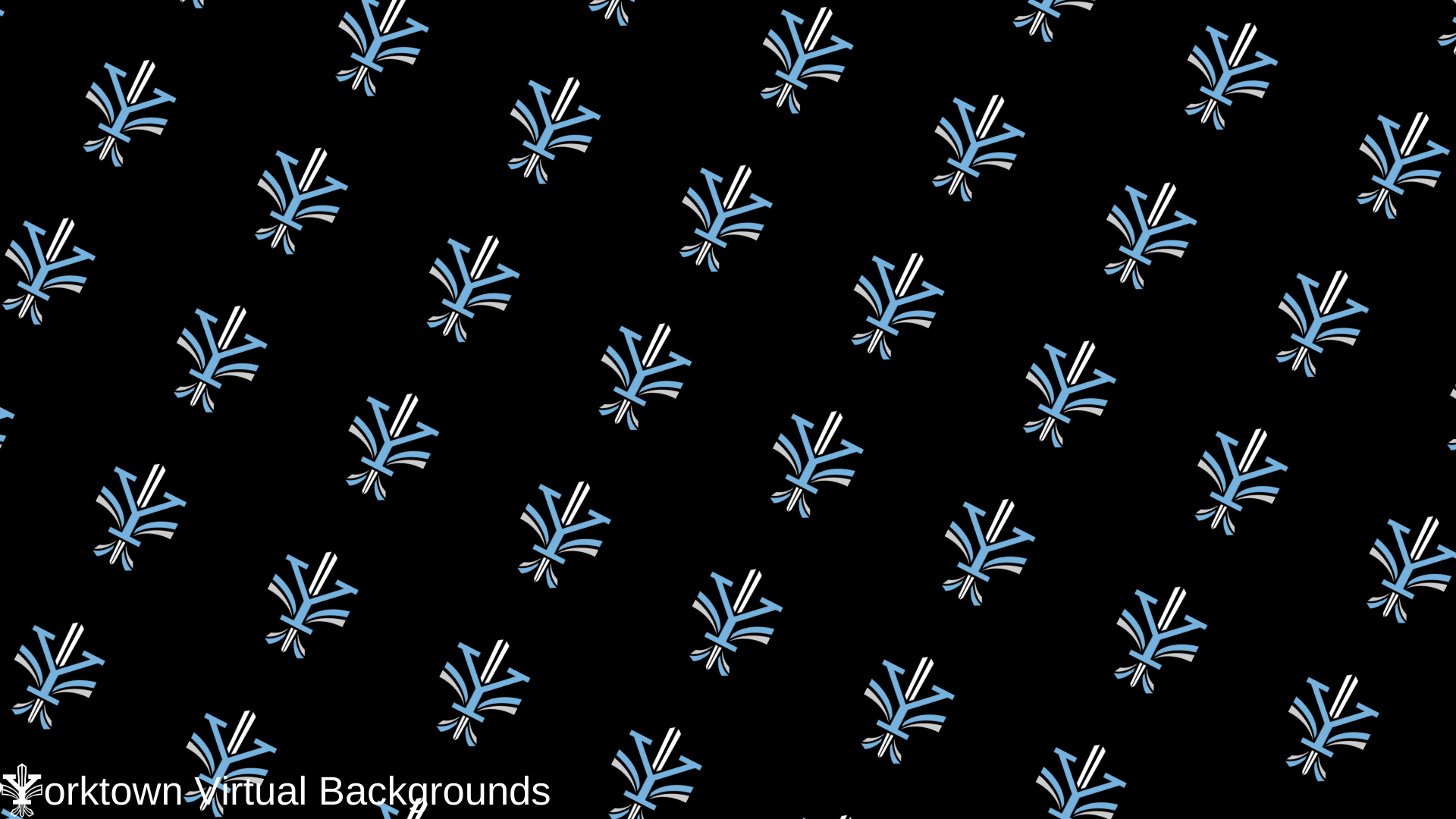 Yorktown Logo Wallpaper for Teams - Black - Diagonal