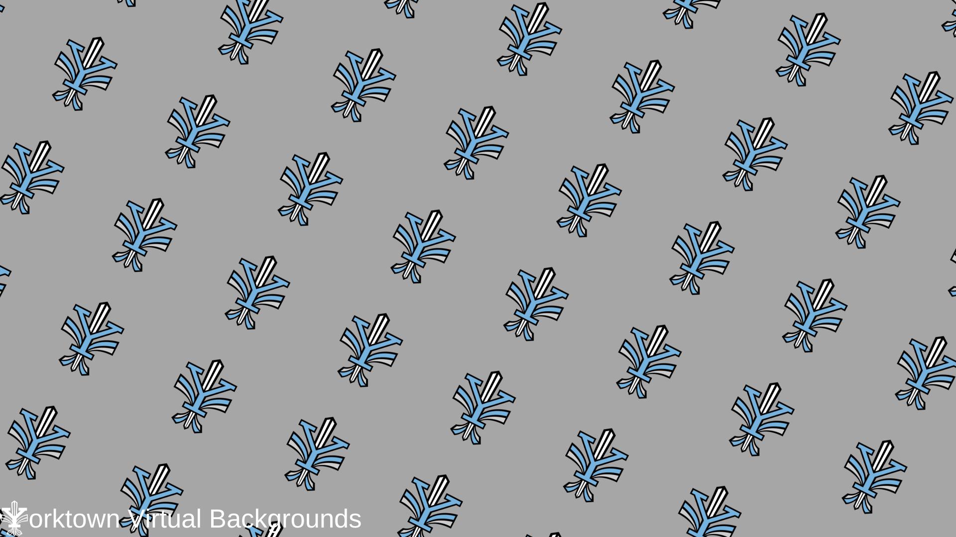 Yorktown Logo Wallpaper for Teams - Grey - Diagonal