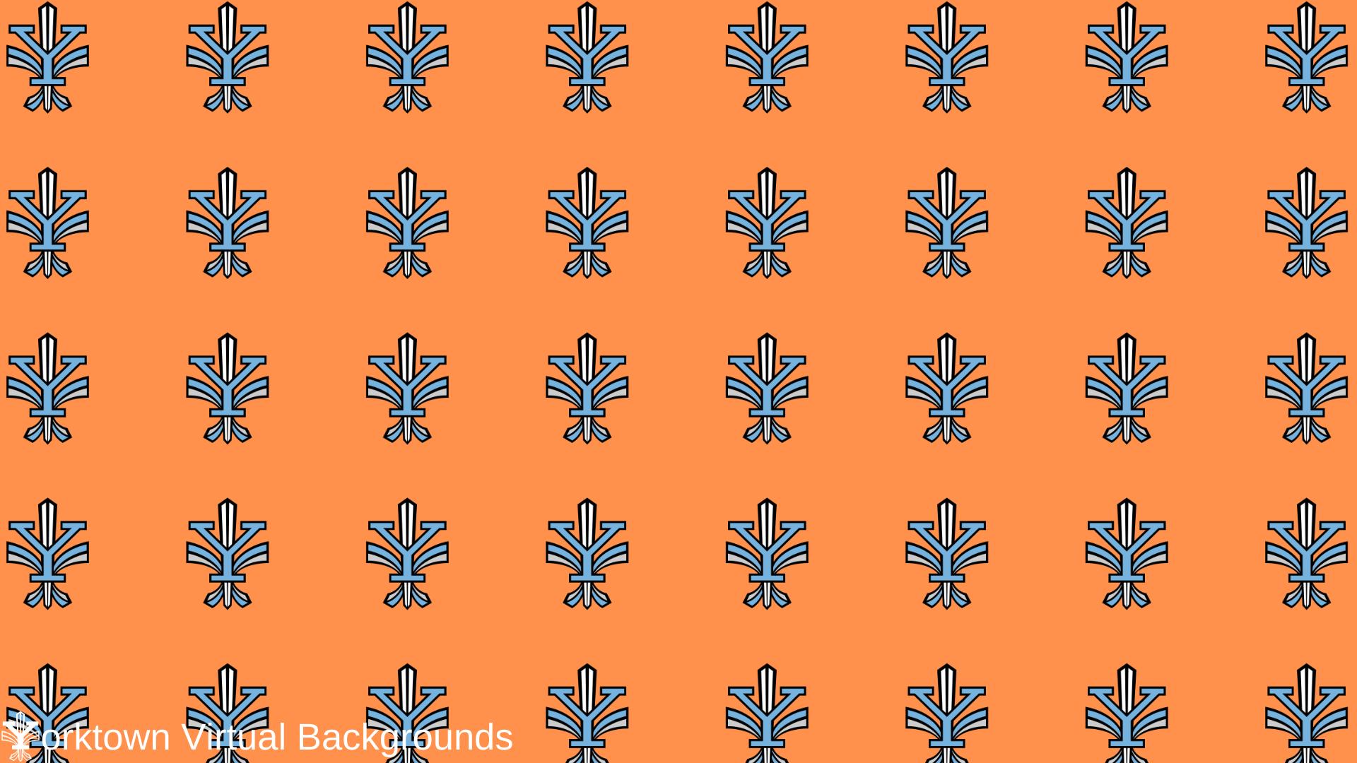 Yorktown Logo Wallpaper for Teams - Orange
