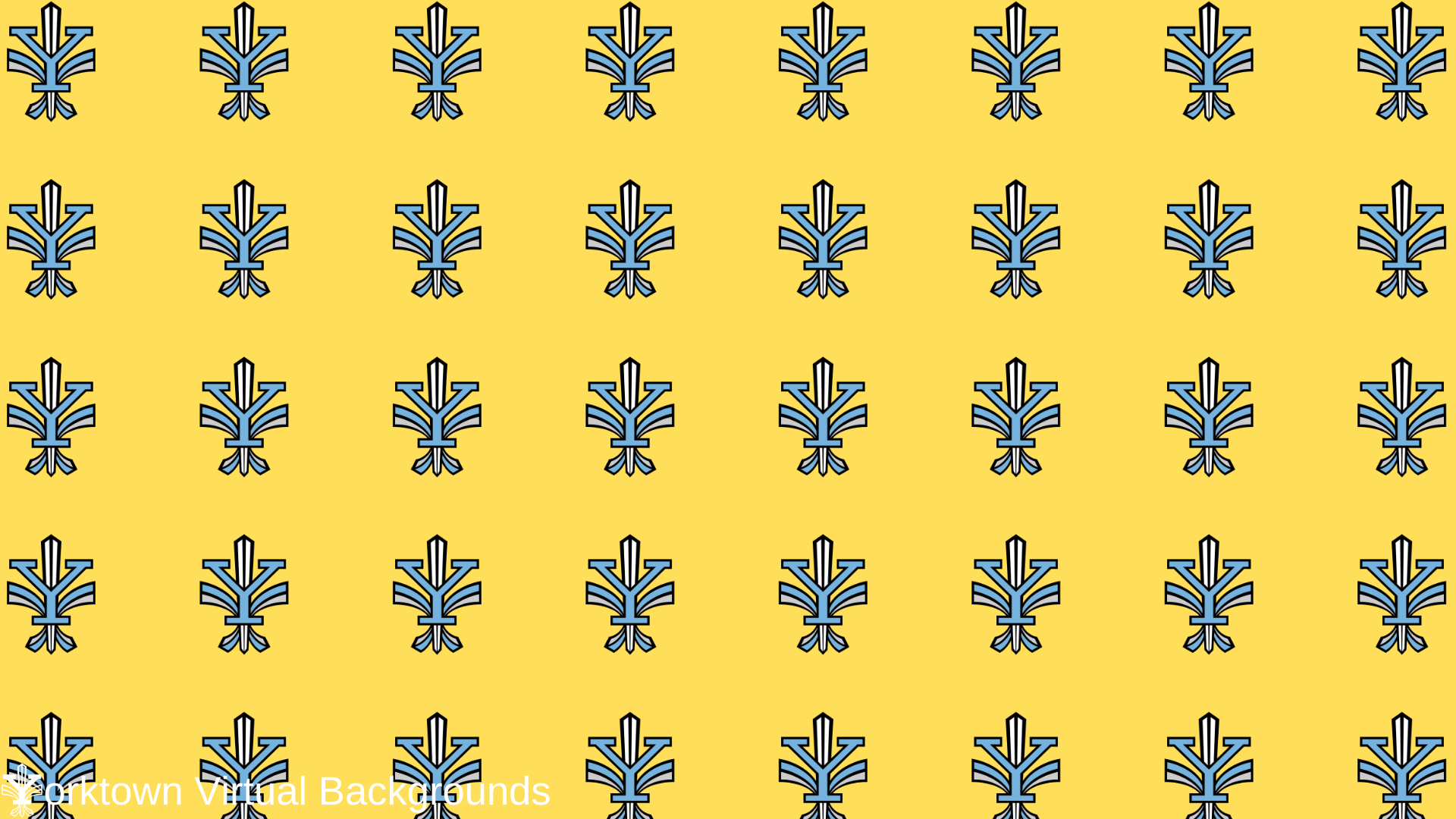 Yorktown Logo Wallpaper for Teams - Yellow