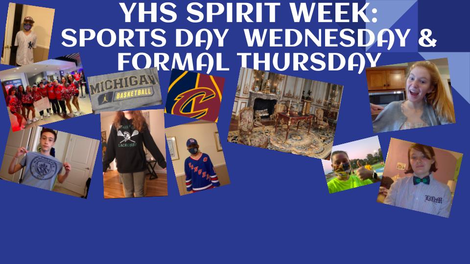 YHS Spirit Week: Sports & Formal Wear