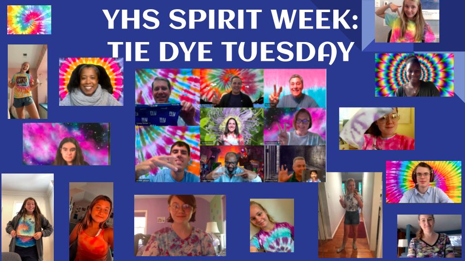 YHS Spirit Week: Tie Dye Tuesday