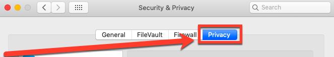 Seguridad y privacidad> pestaña Privacidad