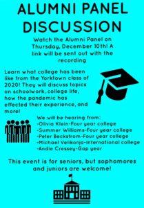 Alumni Panel Discussion flyer