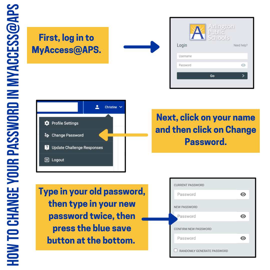 How to Change Your Password in MyAccess@APS