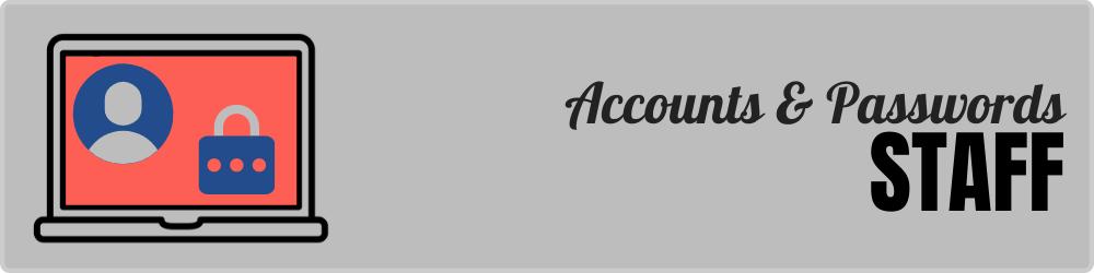 Cuentas y contraseñas - Personal - Banner